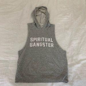 SPIRITUAL GANGSTER SLEEVELESS HOODIE